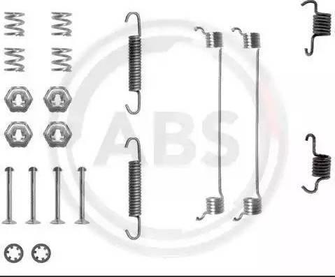 A.B.S. 0651Q - Piederumu komplekts, Bremžu loki interparts.lv