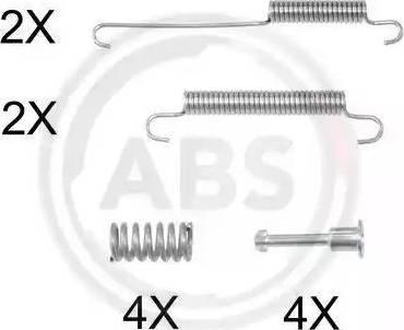 A.B.S. 0892Q - Piederumu komplekts, Stāvbremzes mehānisma bremžu loks interparts.lv