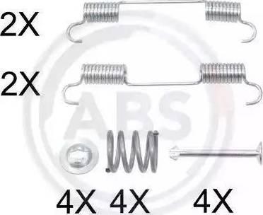 A.B.S. 0897Q - Piederumu komplekts, Stāvbremzes mehānisma bremžu loks interparts.lv