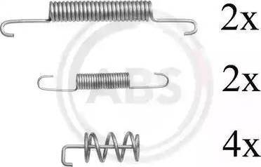 A.B.S. 0831Q - Piederumu komplekts, Stāvbremzes mehānisma bremžu loks interparts.lv