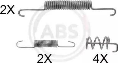 A.B.S. 0832Q - Piederumu komplekts, Bremžu loki interparts.lv