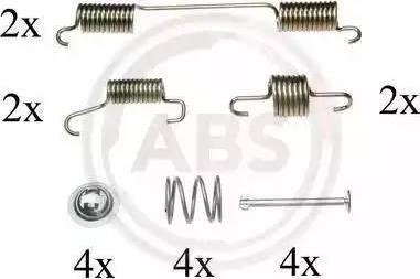 A.B.S. 0828Q - Piederumu komplekts, Stāvbremzes mehānisma bremžu loks interparts.lv