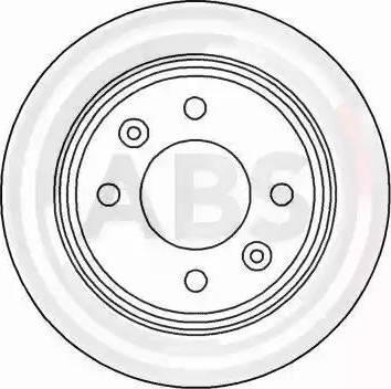 A.B.S. 15890 - Bremžu diski interparts.lv