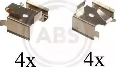 A.B.S. 1697Q - Piederumu komplekts, Disku bremžu uzlikas interparts.lv