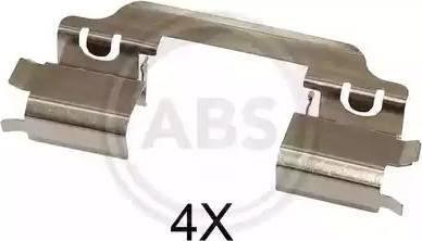 A.B.S. 1649Q - Piederumu komplekts, Disku bremžu uzlikas interparts.lv
