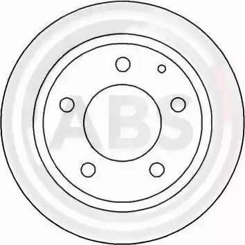 A.B.S. 16455 - Bremžu diski interparts.lv