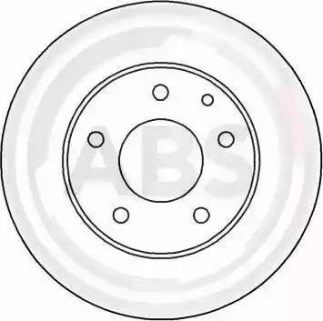 A.B.S. 16456 - Bremžu diski interparts.lv