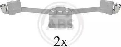 A.B.S. 1641Q - Piederumu komplekts, Disku bremžu uzlikas interparts.lv