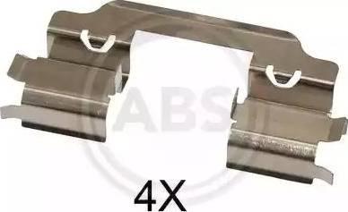 A.B.S. 1648Q - Piederumu komplekts, Disku bremžu uzlikas interparts.lv