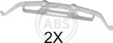A.B.S. 1642Q - Piederumu komplekts, Disku bremžu uzlikas interparts.lv