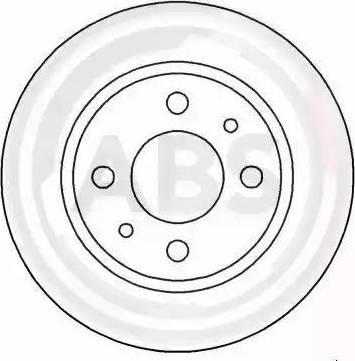 A.B.S. 16596 - Bremžu diski interparts.lv