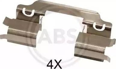 A.B.S. 1654Q - Piederumu komplekts, Disku bremžu uzlikas interparts.lv
