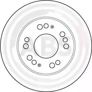 A.B.S. 16501 - Bremžu diski interparts.lv
