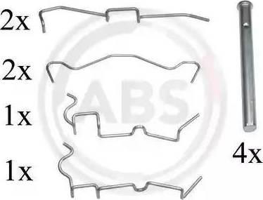 A.B.S. 1650Q - Piederumu komplekts, Disku bremžu uzlikas interparts.lv