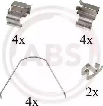 A.B.S. 1651Q - Piederumu komplekts, Disku bremžu uzlikas interparts.lv