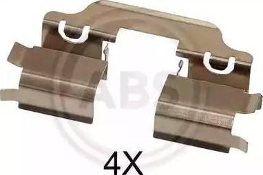 A.B.S. 1653Q - Piederumu komplekts, Disku bremžu uzlikas interparts.lv