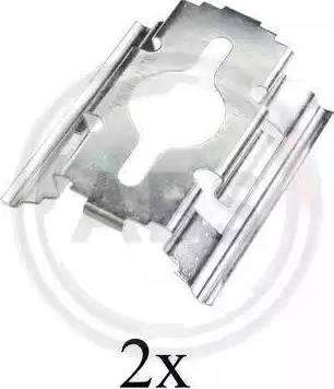 A.B.S. 1657Q - Piederumu komplekts, Disku bremžu uzlikas interparts.lv