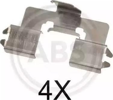A.B.S. 1666Q - Piederumu komplekts, Disku bremžu uzlikas interparts.lv