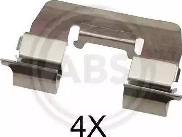 A.B.S. 1668Q - Piederumu komplekts, Disku bremžu uzlikas interparts.lv