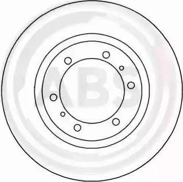 A.B.S. 16671 - Bremžu diski interparts.lv