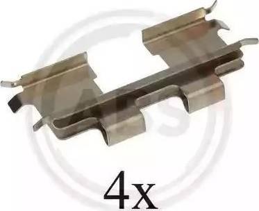 A.B.S. 1667Q - Piederumu komplekts, Disku bremžu uzlikas interparts.lv