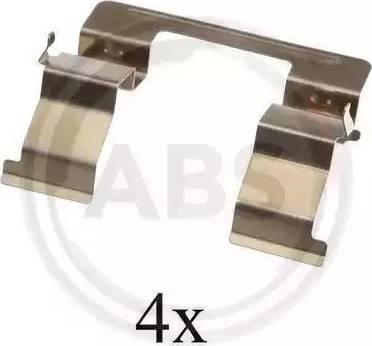 A.B.S. 1605Q - Piederumu komplekts, Disku bremžu uzlikas interparts.lv