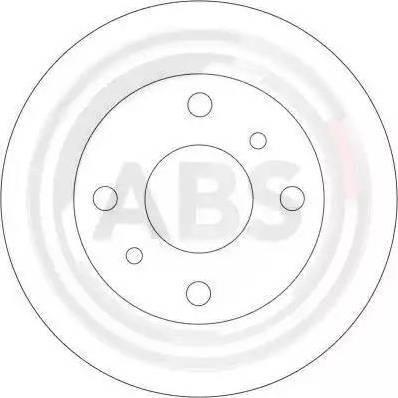A.B.S. 16063 - Bremžu diski interparts.lv