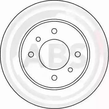 A.B.S. 16062 - Bremžu diski interparts.lv