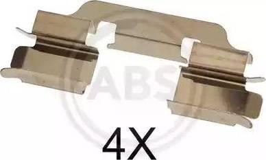A.B.S. 1601Q - Piederumu komplekts, Disku bremžu uzlikas interparts.lv