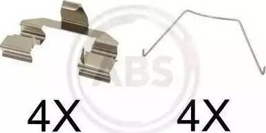 A.B.S. 1607Q - Piederumu komplekts, Disku bremžu uzlikas interparts.lv