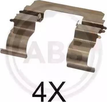 A.B.S. 1615Q - Piederumu komplekts, Disku bremžu uzlikas interparts.lv