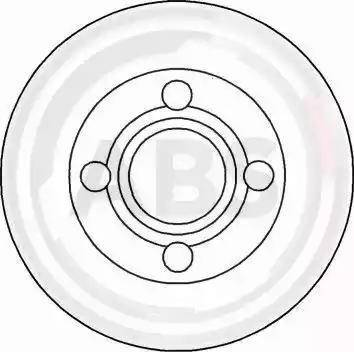 A.B.S. 16100 - Bremžu diski interparts.lv