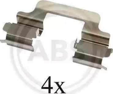 A.B.S. 1610Q - Piederumu komplekts, Disku bremžu uzlikas interparts.lv