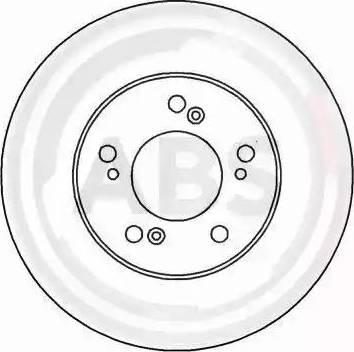 A.B.S. 16182 - Bremžu diski interparts.lv
