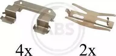 A.B.S. 1618Q - Piederumu komplekts, Disku bremžu uzlikas interparts.lv