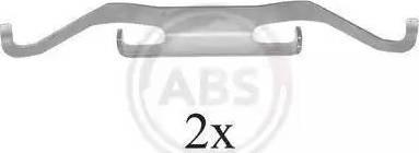 A.B.S. 1680Q - Piederumu komplekts, Disku bremžu uzlikas interparts.lv