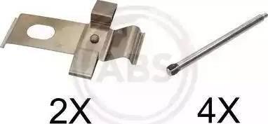 A.B.S. 1634Q - Piederumu komplekts, Disku bremžu uzlikas interparts.lv