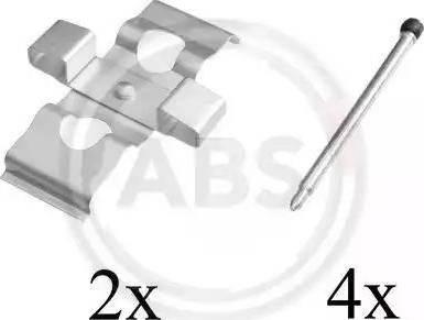 A.B.S. 1635Q - Piederumu komplekts, Disku bremžu uzlikas interparts.lv