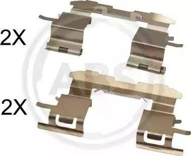 A.B.S. 1631Q - Piederumu komplekts, Disku bremžu uzlikas interparts.lv