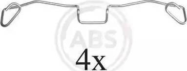 A.B.S. 1633Q - Piederumu komplekts, Disku bremžu uzlikas interparts.lv