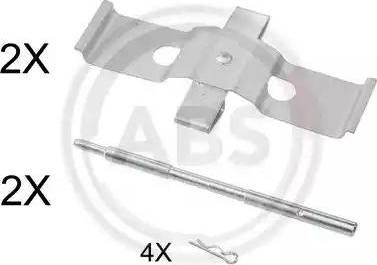 A.B.S. 1637Q - Piederumu komplekts, Disku bremžu uzlikas interparts.lv