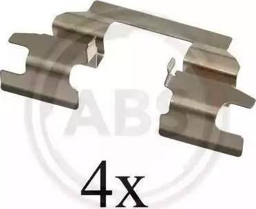 A.B.S. 1625Q - Piederumu komplekts, Disku bremžu uzlikas interparts.lv