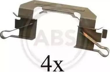 A.B.S. 1626Q - Piederumu komplekts, Disku bremžu uzlikas interparts.lv