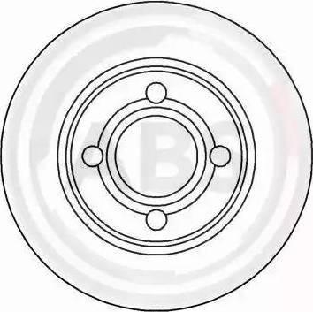 A.B.S. 16201 - Bremžu diski interparts.lv