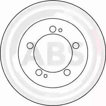 A.B.S. 16207 - Bremžu diski interparts.lv