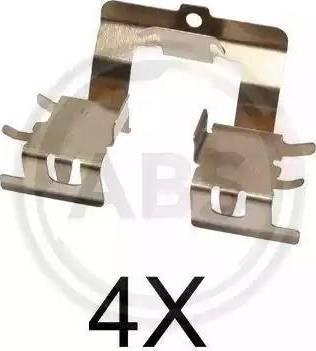 A.B.S. 1620Q - Piederumu komplekts, Disku bremžu uzlikas interparts.lv