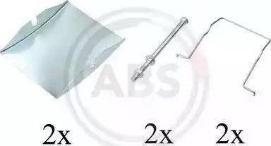A.B.S. 1623Q - Piederumu komplekts, Disku bremžu uzlikas interparts.lv