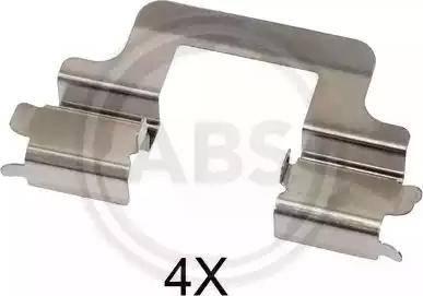 A.B.S. 1679Q - Piederumu komplekts, Disku bremžu uzlikas interparts.lv