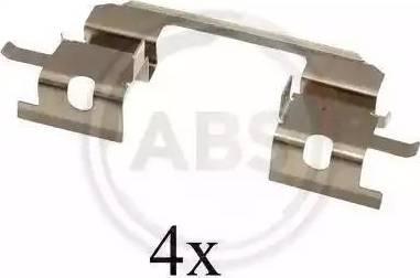 A.B.S. 1672Q - Piederumu komplekts, Disku bremžu uzlikas interparts.lv