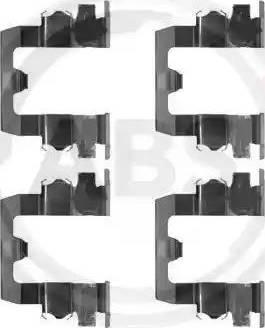 A.B.S. 1095Q - Piederumu komplekts, Disku bremžu uzlikas interparts.lv